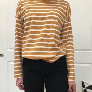 Yellow striped long sleeve